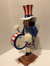 STEINBACH Nutcracker Uncle Sam Music Box Signed Limited Edition take a L@@K!