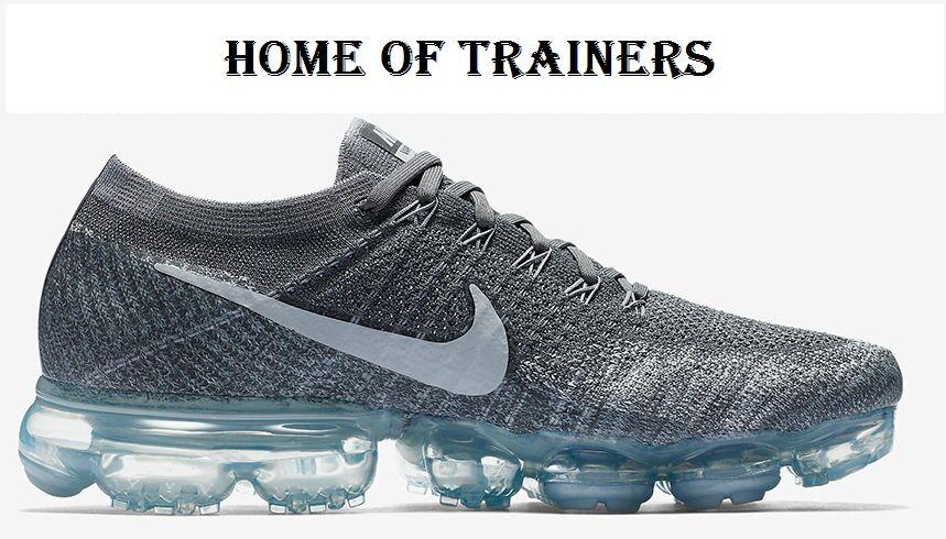 Nike Air VaporMax Flyknit gris gris gris foncé Pure Platinum Unisexe Baskets Toutes Les Tailles eecfdf