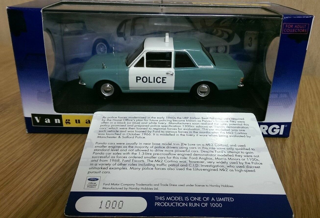 Corgi VA04116 Ford Cortina Mk2 Police Car Manchester & Salford Ltd 1000 of 1000
