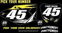 Suzuki Rm 125-250 01-12 Pre Printed Number Plate Backgrounds Fast Guy