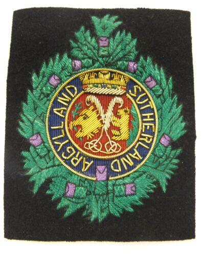 Argyll /& Sutherland Highlanders Deluxe Blazer Badge