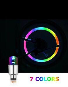 Bike Bicycle Cycling Spoke Wheel Tire Tyre Valve Cap Flash LED Bright Light Lamp