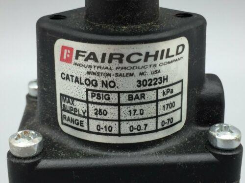 3//8 INCH NPT P//N 30223H NEW FAIRCHILD MODEL 30 MIDGET REGULATOR 0-10PSIG RANGE