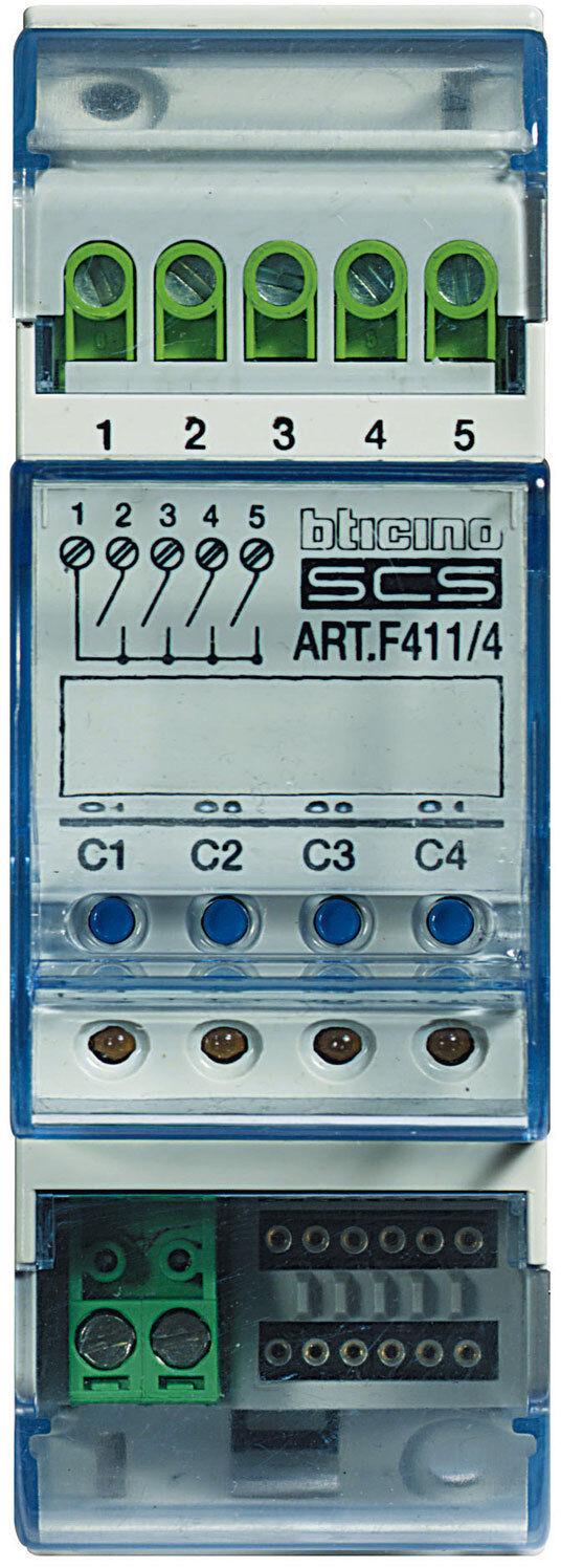 Bticino attuatore 4 rele 2 MODULI F411 F411 F411 4 f07116