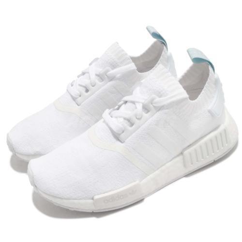 Adidas Originals NMD_R1 PK PK PK W Primeknit CQ2040 Triple White bluee Tint Women's 7.5 dd243f