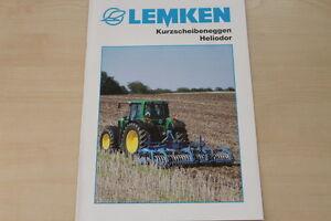 158092) Lemken Kurzscheibenegge Heliodor Prospectus 10/2007-ge Heliodor Prospekt 10/2007 Fr-fr Afficher Le Titre D'origine