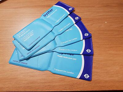 5 X Oyster Card Wallet-originale Pallido Bluetfl Design, Raro, Da Collezione-mostra Il Titolo Originale Vendita Calda Di Prodotti