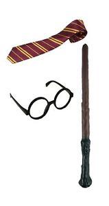 Cravate lunettes baguette deguisement costume Harry Potter enfant set wizard FR