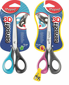 Maped-Scissors-16-cm-Sensoft-3D-Ergonomic-Flexible-Handles-Better-Grip-School