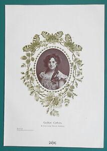 GUDRUN-CARLSON-Denmark-Charming-Danish-Actress-1904-Art-Nouveu-Era-Print
