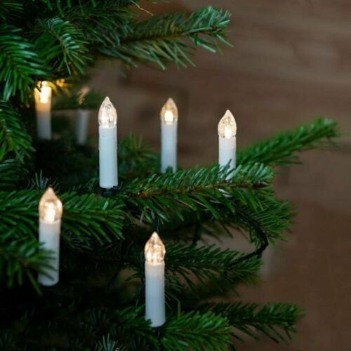 Clip-On Tree Candle LED Warm White 20 x Lights Indoor Outdoor Fairy String