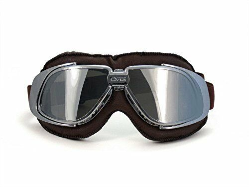 New CRG Vintage Bike Aviator Pilot Style Motorcycle Cruiser Scooter Goggles T10