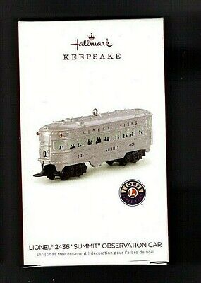 "Summit"" Observation Car LIONEL® 2436 "" Metal  2018 Hallmark Ornament"