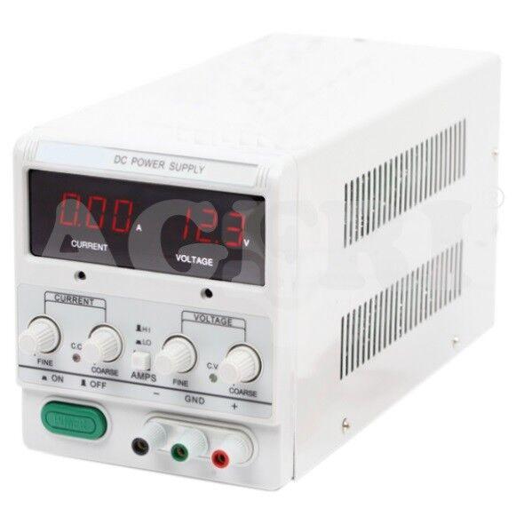 Fuente Alimentación Regulable DC 0-30V y 0-5A. Especial para laboratorios.