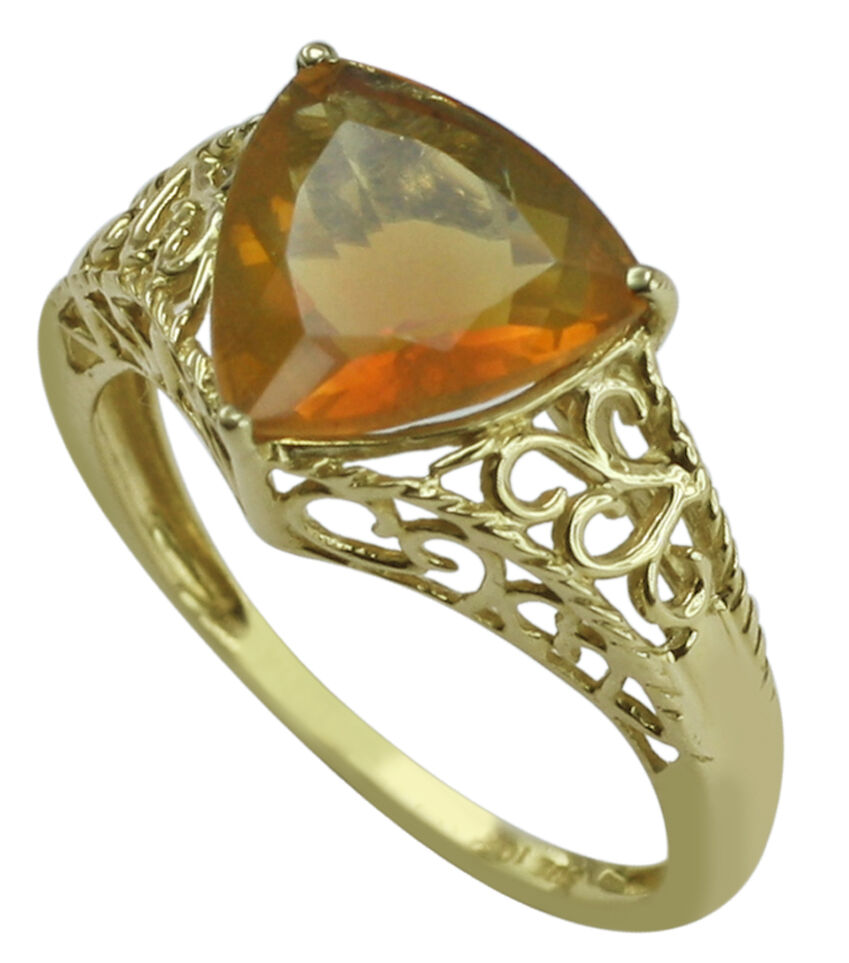 Fire Opal Beautiful 1.83 Ct. Exotic Solitaire Ring Solid gold Christmas Jewelry