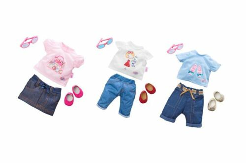 Baby Born >>> Classic Jeans Outfit <<< 43 cm Babypuppen & Zubehör Orig Kleidung & Accessoires