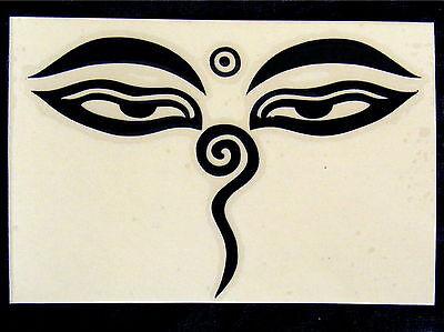 Intellective Herrlicher Trasparente Buddha Eyes Adesivo * Meditazione Tibet Buddismo-