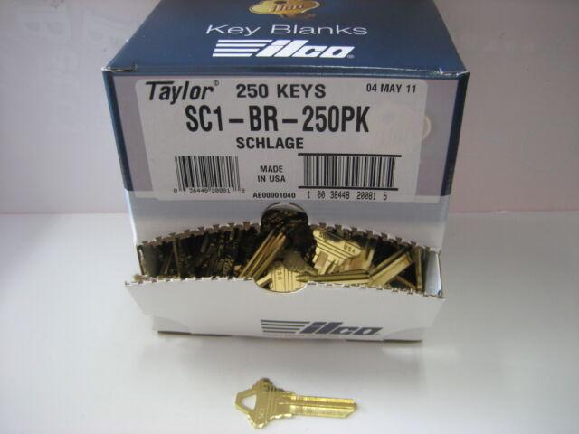 Made by Ilco 1000 Schlage SC1 NICKEL Key Blanks for Locksmith
