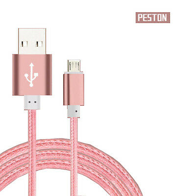 Metal Braided USB SYNC Data Cable Charger For iPhone 5 6 6S Plus Android Samsung