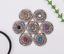 10X-Bohemian-3D-Flower-Turquoise-Conchos-For-Leather-Craft-Keychian-Wallet-Decor miniatuur 2