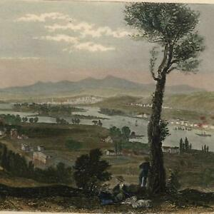 Mount-Ida-Hudson-river-birds-eye-c-1870-steel-engraved-print-lovely-hand-color