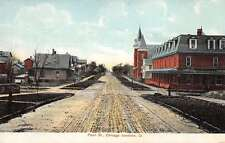 Chicago Junction Ohio Pearl Street Historical Bldgs Antique Postcard K30522