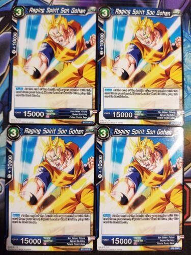 Raging Spirit Son Gohan 4x BT2-039 C Dragon Ball Super PLAYSET