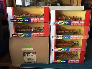 Britains Cultivateur à lattes 1/32 6 unités dans la boîte Fabrica (9547) Voir photo