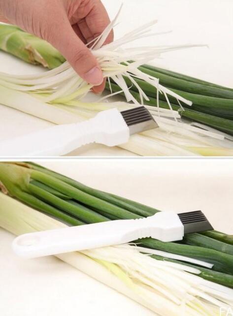 FA US New Stainless Steel Scallion Spring Onion Vegetable Shredder Slicer Cutter