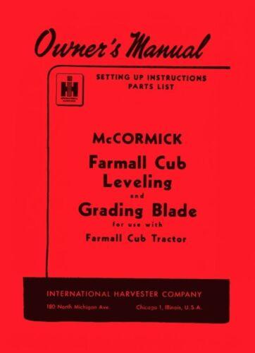 Business & Industrial International Farmall Cub Tractor Leveling ...