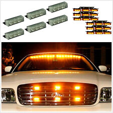 54 Amber Yellow LED Emergency Warning Strobe Lights Autos Deck Dash Grille Lamps