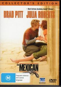 THE-MEXICAN-DVD-R4-2002-Brad-Pitt-Julia-Roberts-LIKE-NEW-FREE-POST
