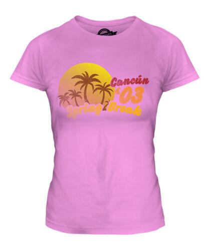 Spring break cancun 03 mesdames imprimé vintage stamp t-shirt mexique puerto rico