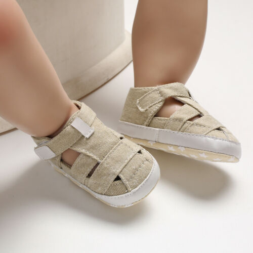 Fashion New Baby Boy Crib Shoes Infant Toddler Summer Sandals Size 0-18 Months