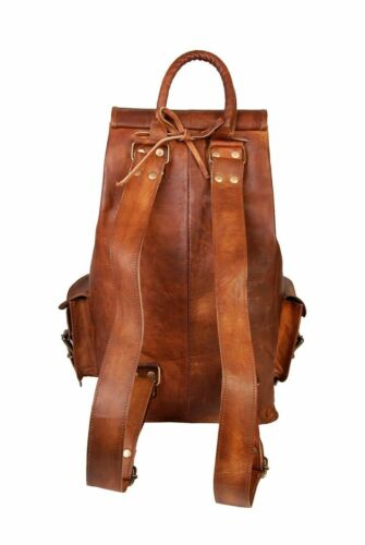 "20/"" New Large Genuine Leather Back Pack Rucksack Travel Bag Men/'s and Women/'s."