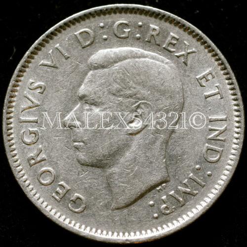CANADA RARE 1938 GEORGE VI 5 CENTS NICKEL