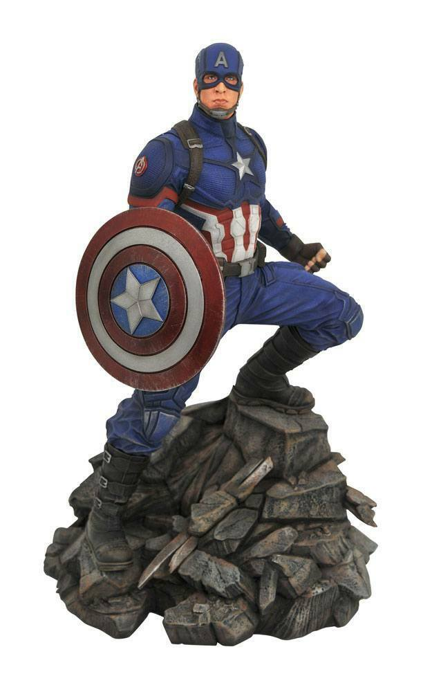 Avengers  mossa finale Marvel Film Premier Collection STATUA CAPITAN AMERICA 30 cm