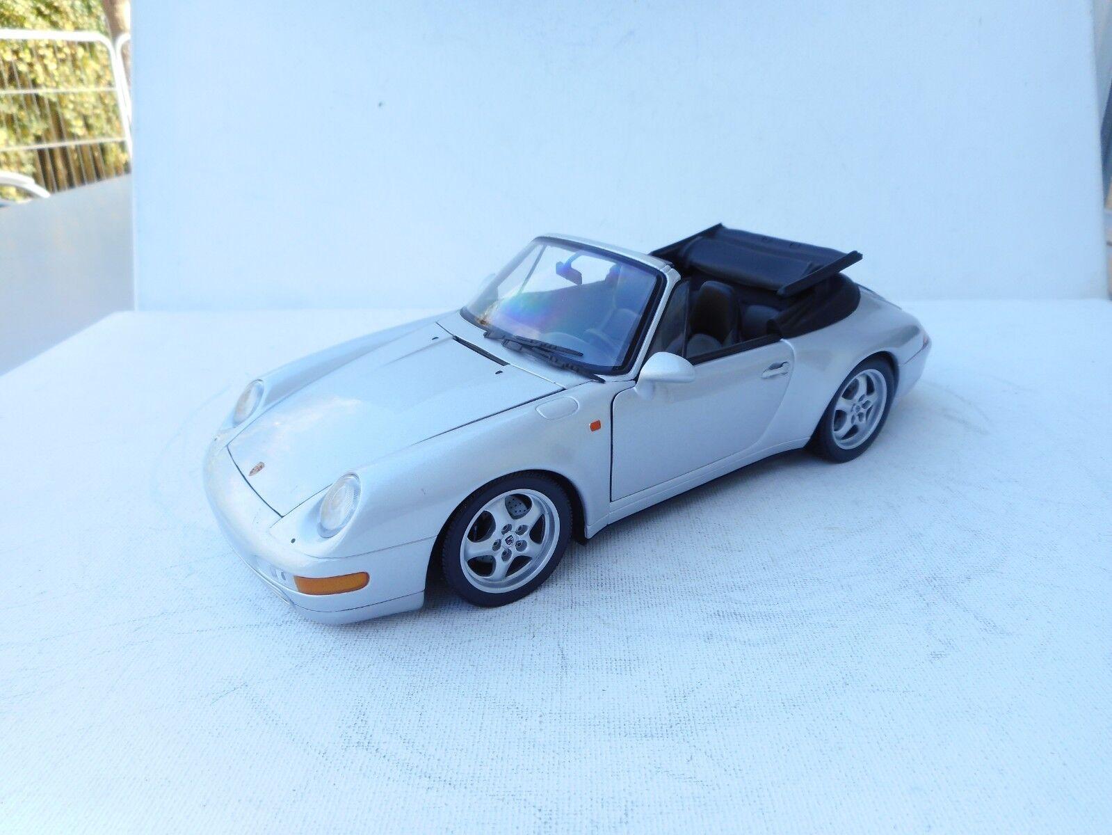 1 18  UT Porsche 911 DIECAST  Cabriolet (993) (argent-metallic) 1 18  NO BOX