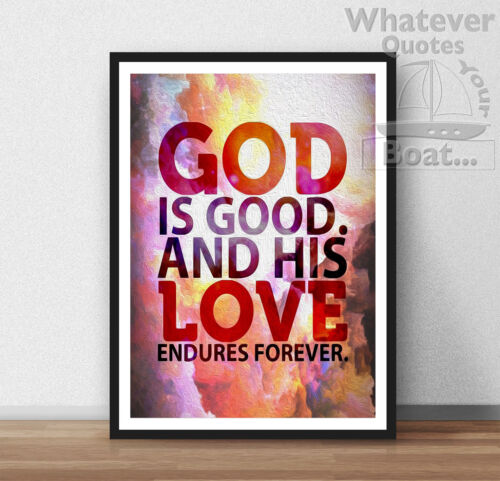 Frame Jesus God Love Poster Print Motivation Life Bible Quote