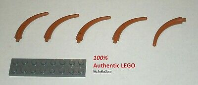 6047427 Brick 40379 5x LEGO NEW Dark Orange Animal Tail Section End