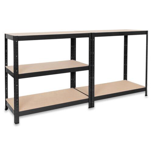 Black Metal Shelving and Racking 120cm Wide Garage Shed Rack Storage Units 5Tier