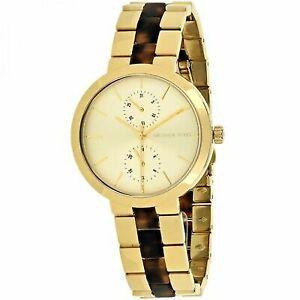 Michael Kors MK6471 Garner Gold-tone & Tort Acetate Watch 38mm