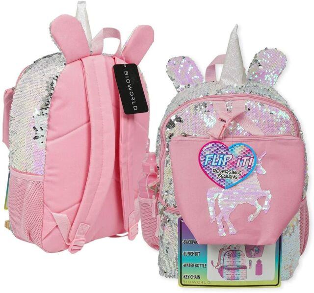 Unicorn Girls Kids Glitter Sparkle School Character Backpack Rucksack Nursery