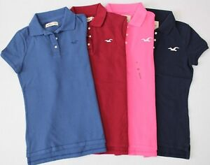 2f79ab3e9 Image is loading New-Hollister-Women-039-s-Shirt-Polo-Size-
