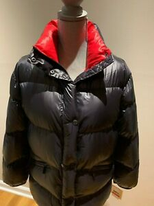 NWT Michael Kors Women's Quilted LightWeight Down Jacket Coat Black/Red  Size S   eBay