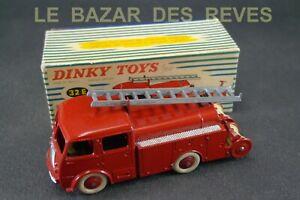 DINKY-TOYS-FRANCE-Pompiers-BERLIET-REF-32-E-Boite-rouge-vif-orange