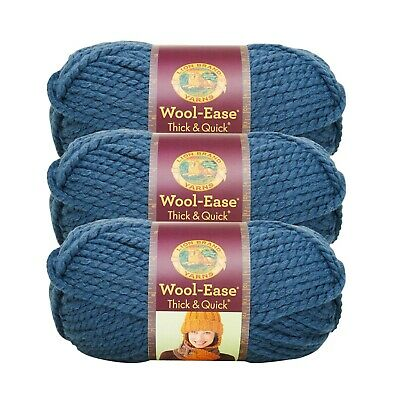 Succulent Pack of 3 skeins Lion Brand Yarn 640-116 Wool-Ease Thick /& Quick