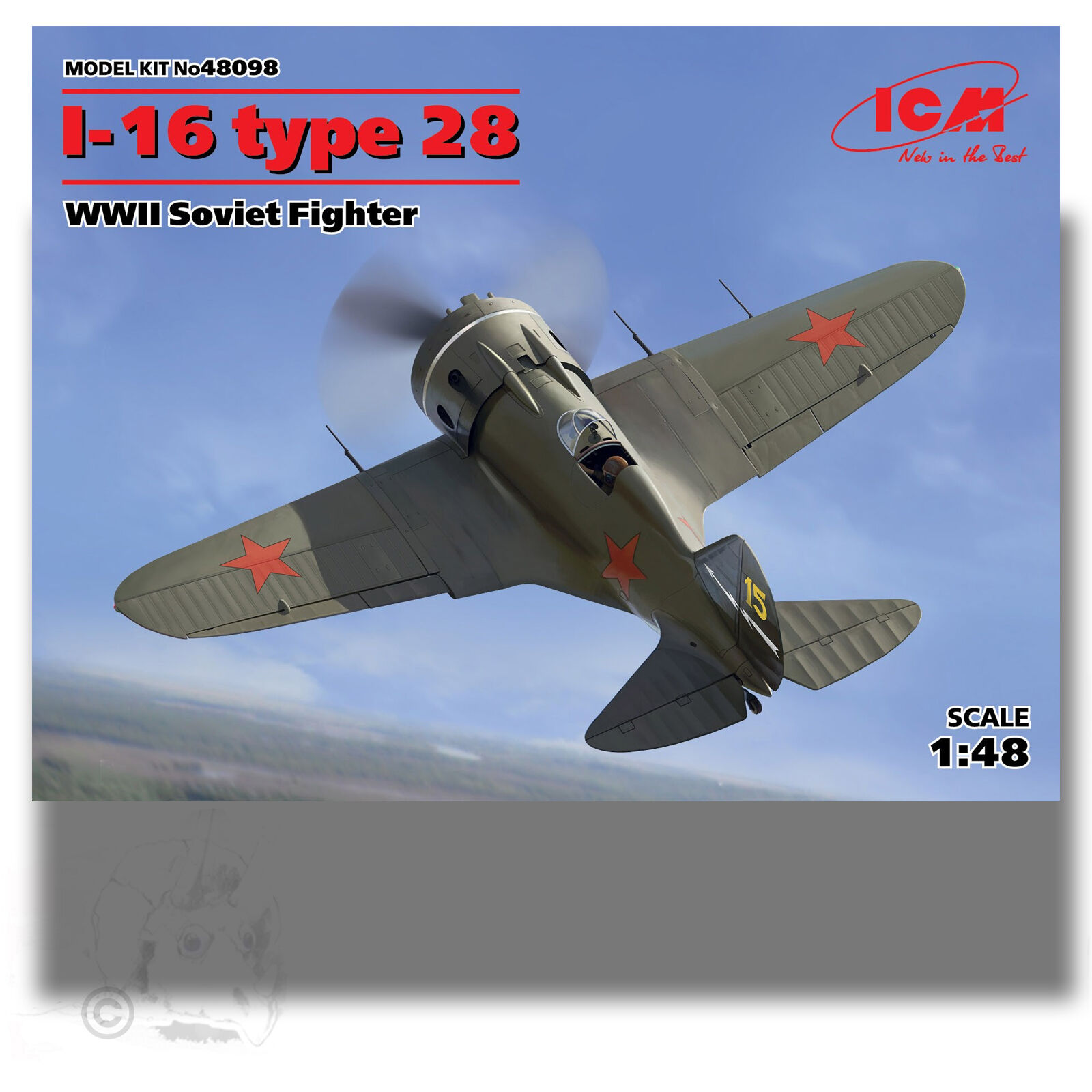 ICM 1 48 I-16 TYPE 24 WWII RUSSIAN FIGHTER KIT 48098