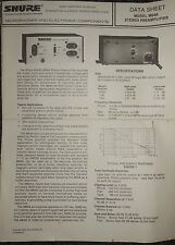 41601 Shure Brothers Inc Model M64A Stereo Preamplifier