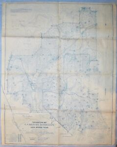 Pre WWI Map of U.S. Military Reservation Near Leon Springs, Texas | eBay